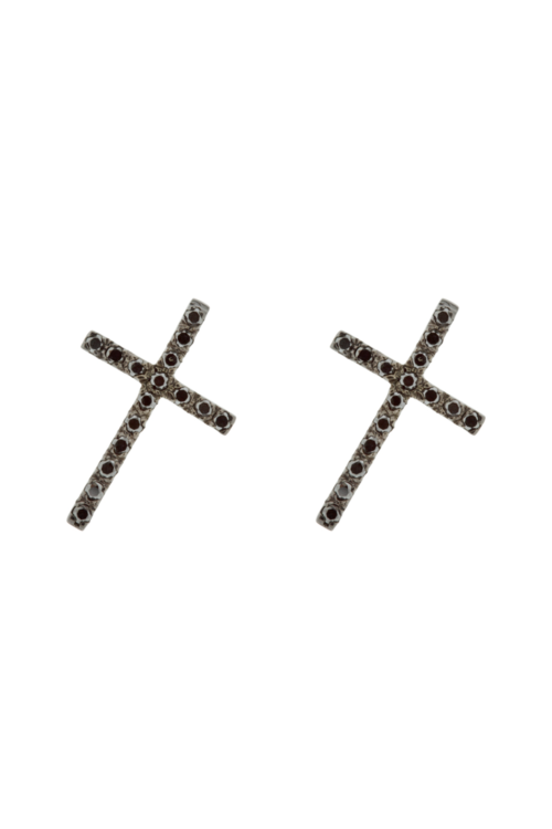 JI EARRINGS IN BLACK RHODIUM AND BLACK DIAMONDS