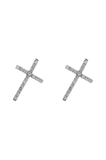 BOUCLES D'OREILLE JI EN OR BLANC ET DIAMANTS